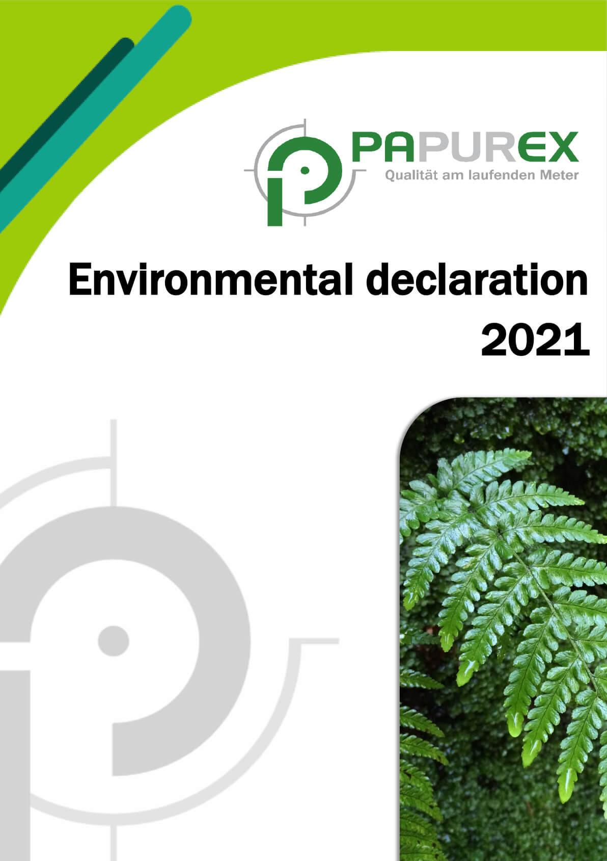 PAPUREX environmental statement 2021