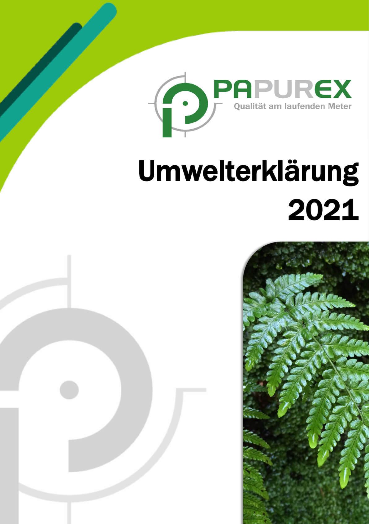PAPUREX Umwelterklärung 2021